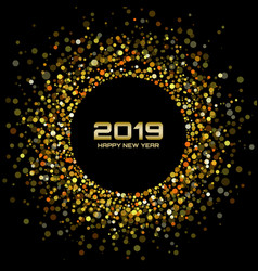 new year 2019 gold card background vector image