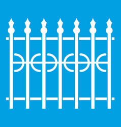 Park fence icon white vector