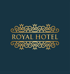 Royal hotel luxury logo design inspiration in vector