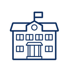 school building icon on white background vector image