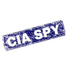 Scratched cia spy framed rounded rectangle stamp vector