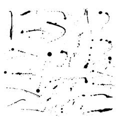 Set ink blots vector