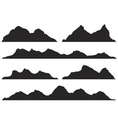 Silhouette mountain peaks vector