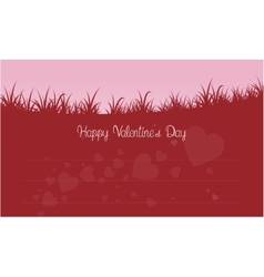 Silhouette of grass valentine theme vector