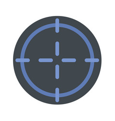 sniper target icon flat style vector image