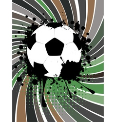 Soccer ball on rays background vector