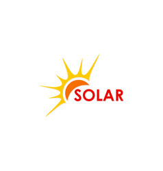 solar energy abstract logo vector image