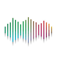 sound waves icon colorful icon with vector image
