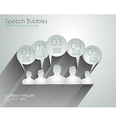 Speech Bubbles with delicate Shadows vector image