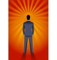 Staring at the sun business concept vector