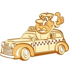 Taxi driver man vector