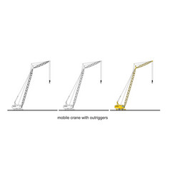 Tower crane components modern mobile crane vector