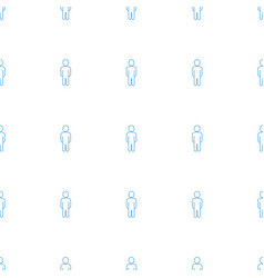 User icon pattern seamless white background vector