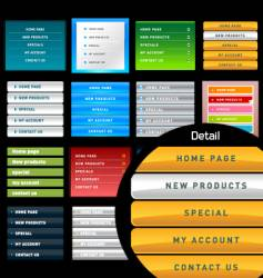 vertical web menus vector image vector image
