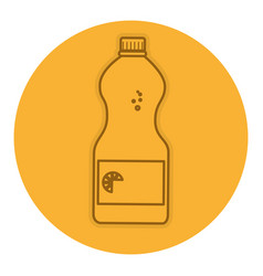 water bottle isolated icon vector image