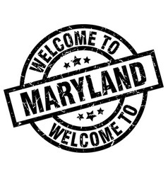 Welcome to maryland black stamp vector