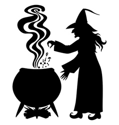 Witch pot vector