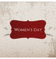 Womens day red greeting card vector