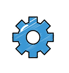 gear engineering industry process technology vector image vector image
