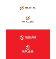 Arrows logo red and yellow color vector