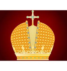 royal gold crown vector image vector image