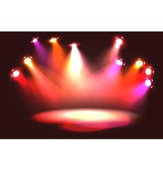 Set of pinky orange stage lights vector image