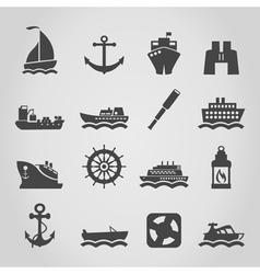 Ship an icon vector image vector image