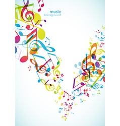 Abstract backgrounds with colorful tunes vector image