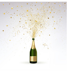 champagne and gold confetti vector image vector image