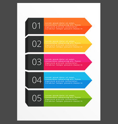 five steps horizontal colorful banners vector image vector image