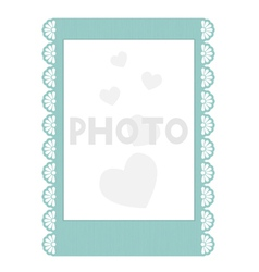 Frilly Instant Photo Frame vector image