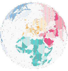map of europe and africa vector image vector image