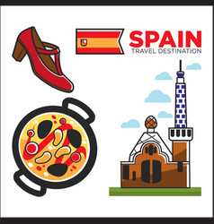 spain travel destination promotional banner with vector image vector image