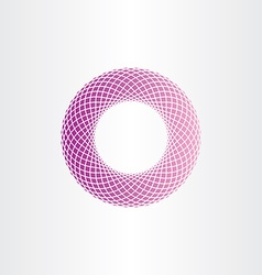 abstract geometric purple circle halftone vector image