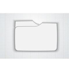 Blank folder vector image vector image