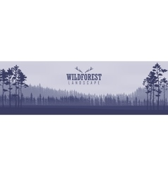 Horizontal abstract banners of hills of coniferous vector image