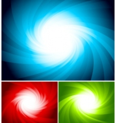 set of colorful swirl background vector image