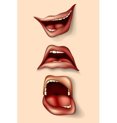 set of lips and mouths vector image
