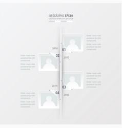 timeline white color vector image