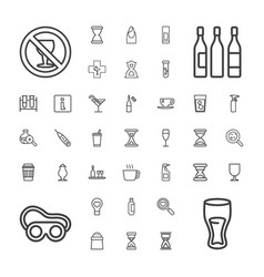 37 glass icons vector
