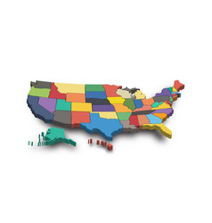 3d map united state america vector image