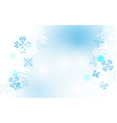 abstract winter snowflakes background vector image