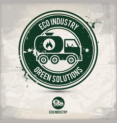 alternative eco industry stamp vector image