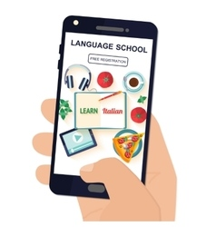 App for study Italian language vector