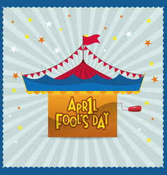 april fools day circus star background vector image