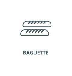 baguette line icon baguette outline sign vector image