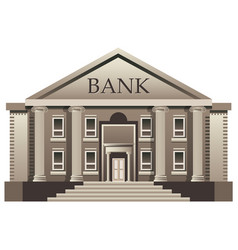 bank finance building isolated vector image