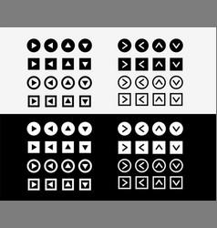big arrow sign icons set vector image
