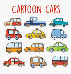 cartoon cars sketch vector image