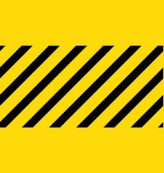 Caution black and yellow striped seamless vector